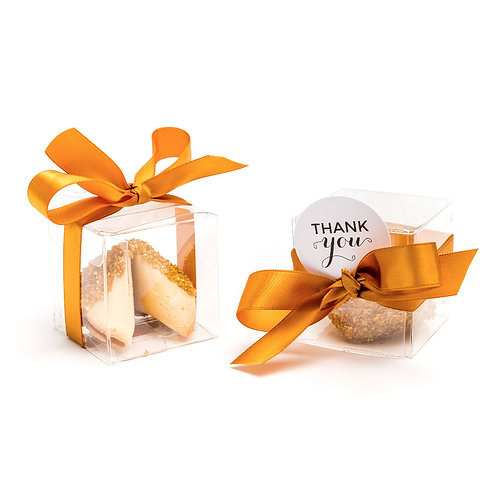 25 Gold Sugar Boxed Fortune Cookies