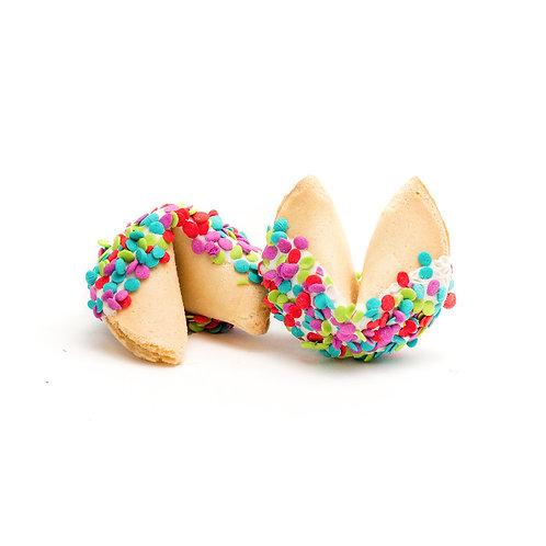 25 Neon Confetti Bulk Fortune Cookies