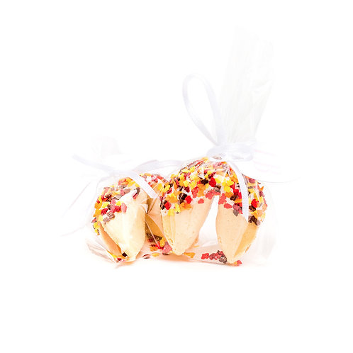25 Thanksgiving Leaf Sprinkles Wrapped Fortune Cookies
