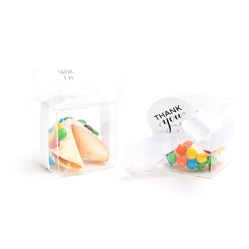 25 M & M Colorful Boxed Fortune Cookies
