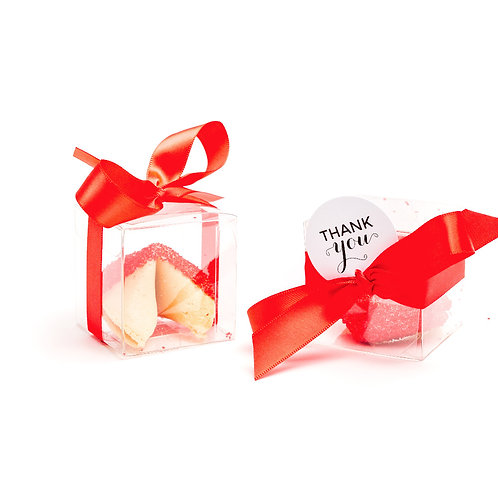 25 Red Sugar Boxed Fortune Cookies