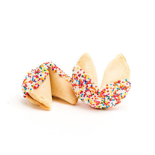 25 Mixed Sprinkles Bulk Fortune Cookies