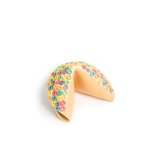 Giant Fruit Loops Covered Fortune Cookie