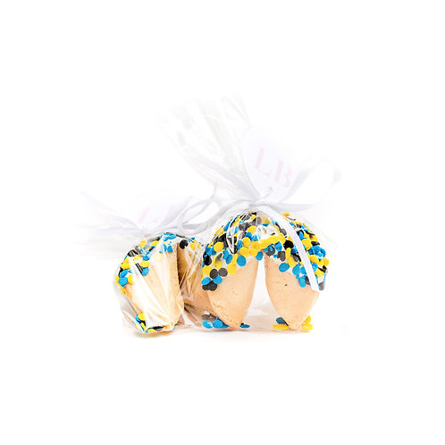 25 Graduation Confetti Wrapped Fortune Cookies