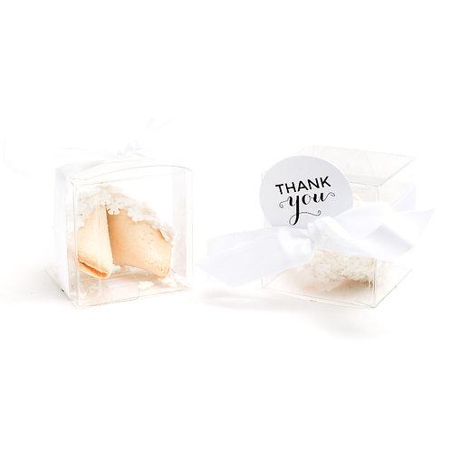 25 Snowflakes Sprinkles Boxed Fortune Cookies