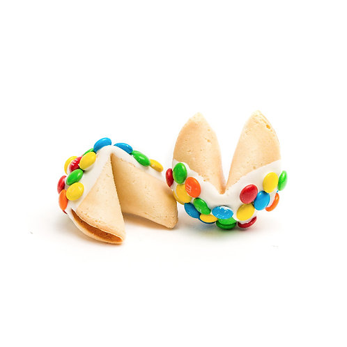25 M & M Colorful Bulk Fortune Cookies