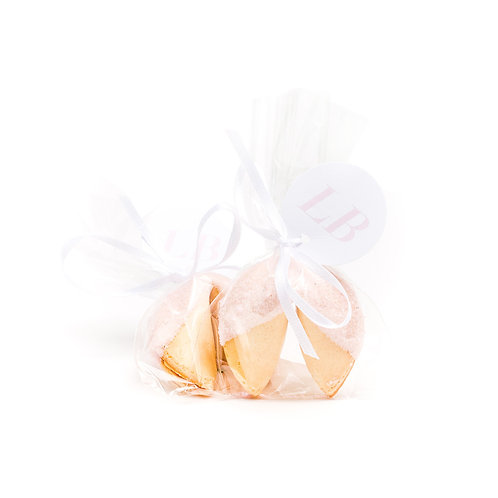 25 Pastel Pink Sugar Wrapped Fortune Cookies