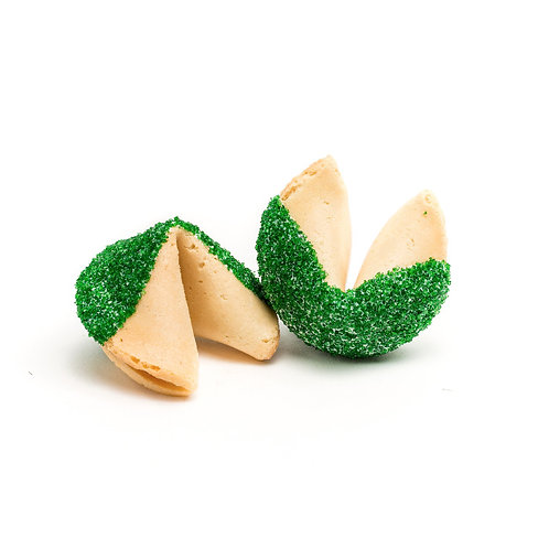 25 Green Sugar Bulk Fortune Cookies