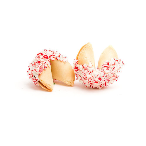 25 Candy Cane Sprinkles Bulk Fortune Cookies