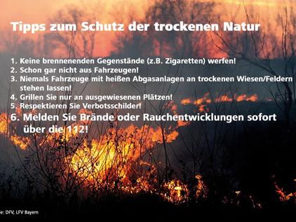 Tips zum Schutz der trockenen Natur