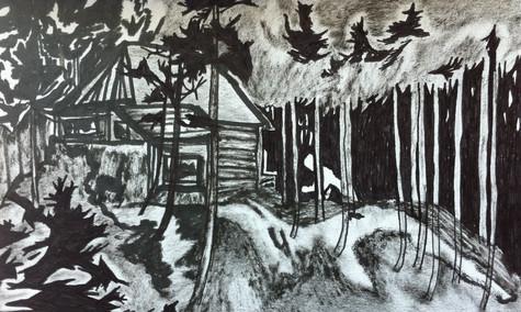 Study of McIvor lake cabin