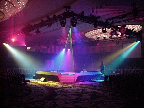 Stage and sound setup
