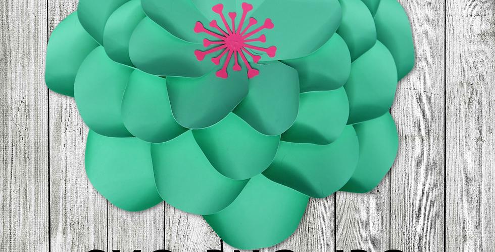 Paper flower template #3