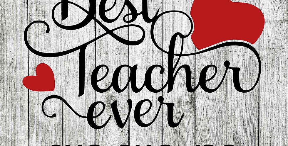 Best Teacher Apple SVG