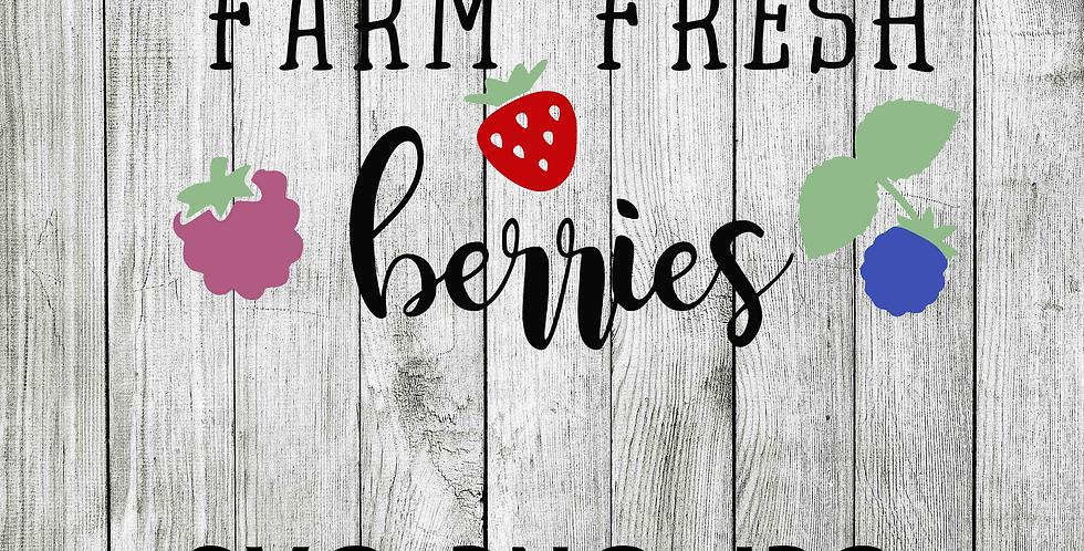 farm fresh berries SVG