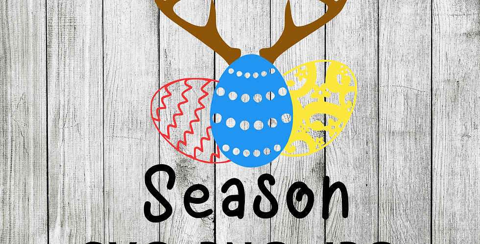 Hunting season Easter Eggs deer SVG