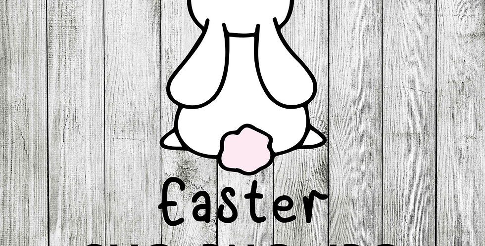 Happy easter with rabbit bunny SVG