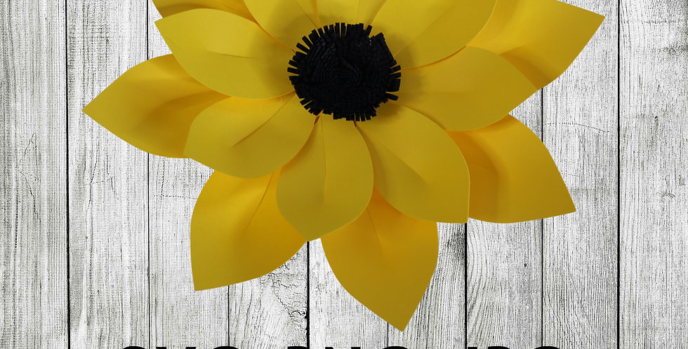 Paper sunflower Template SVG