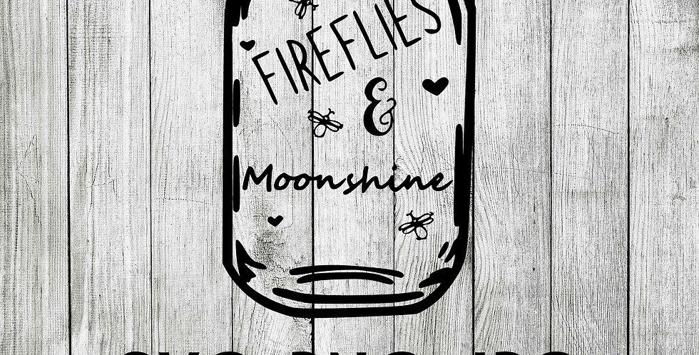 Fireflies and moonshine mason jar SVG
