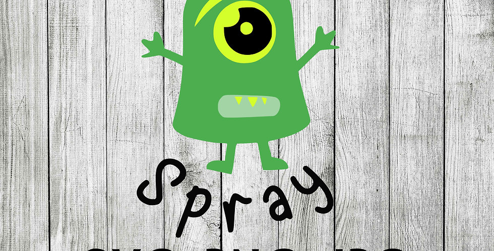Monster spray bottle label - Kids nightmare spray  SVG
