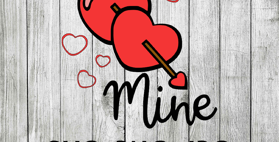 Be mine hearts with arrow
