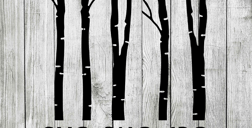 Birch trees SVG - Forest