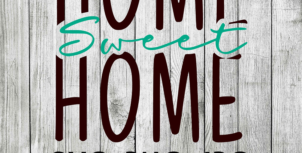home sweet home SVG welcome sign flag