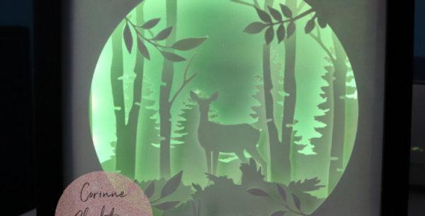 3D shadow box Always deer stag - SVG