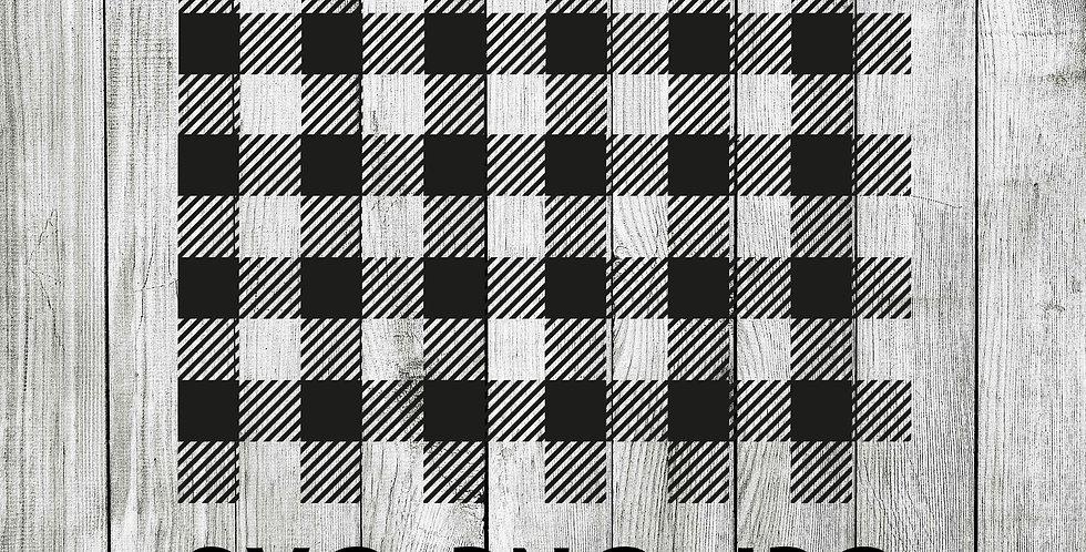 buffalo plaid patterned SVG - pattern for slicing