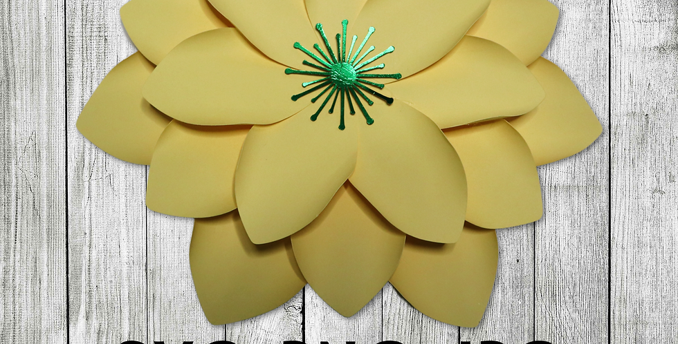 Paper flower template #1