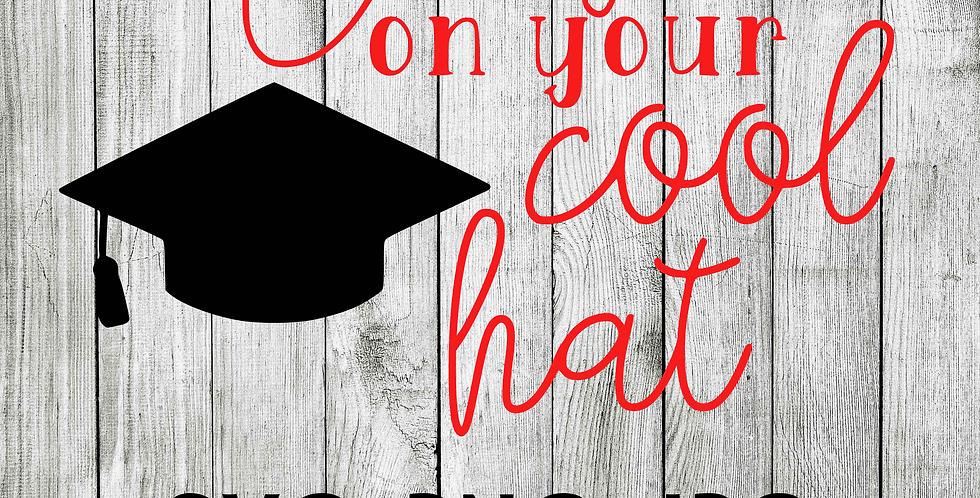 Graduation cool hat SVG