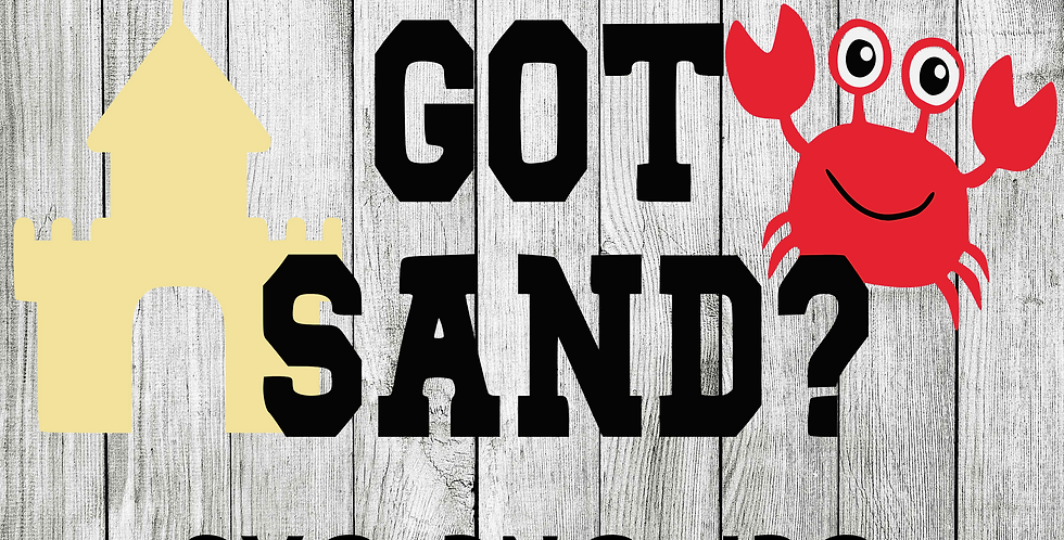 Got sand crab and sand castle  SVG