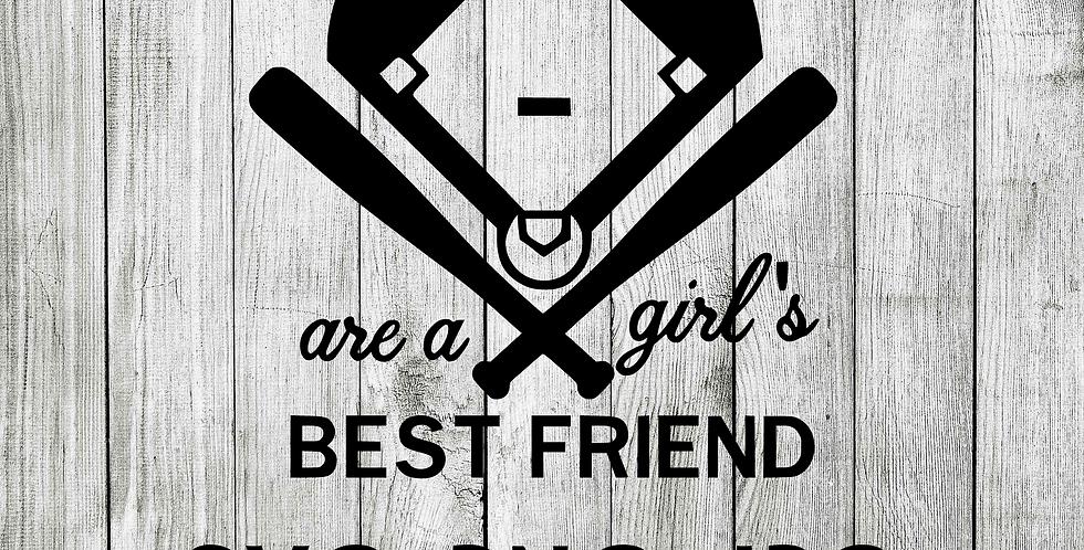 Diamonds are a girls best friend - SVG baseball
