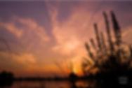 Sunset IJssel red sky