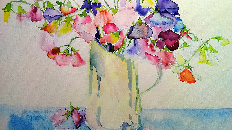 First of the sweet peas