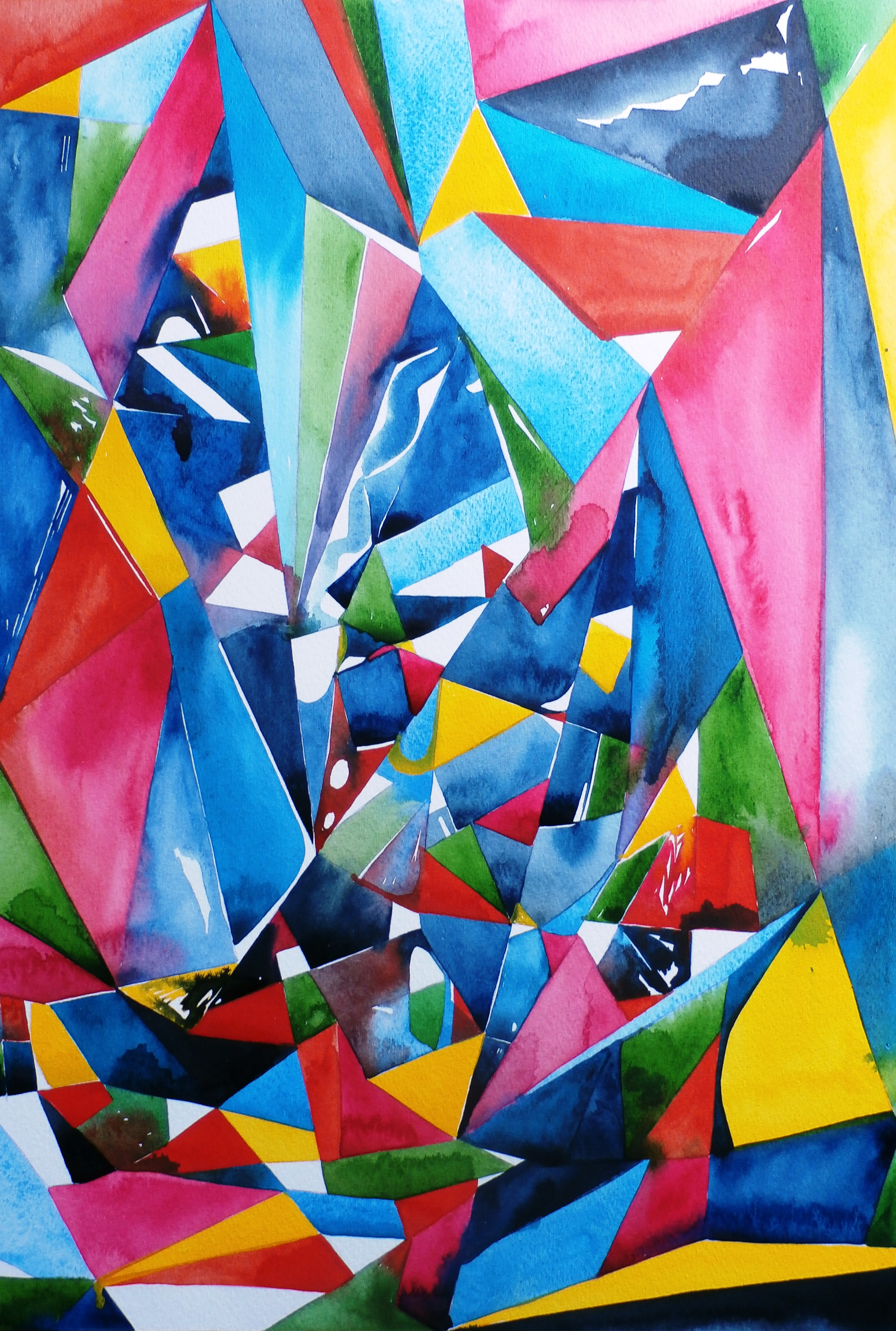 Chaos Watercolour 59.5 x 42 cm