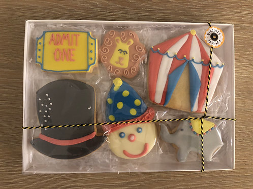 Themed biscuit box    (Circus)