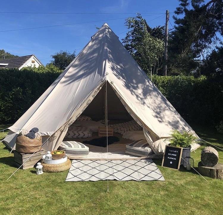 Bell tent - Scandi Boho theme