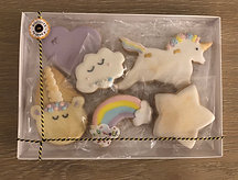 Themed biscuit box (Unicorns)