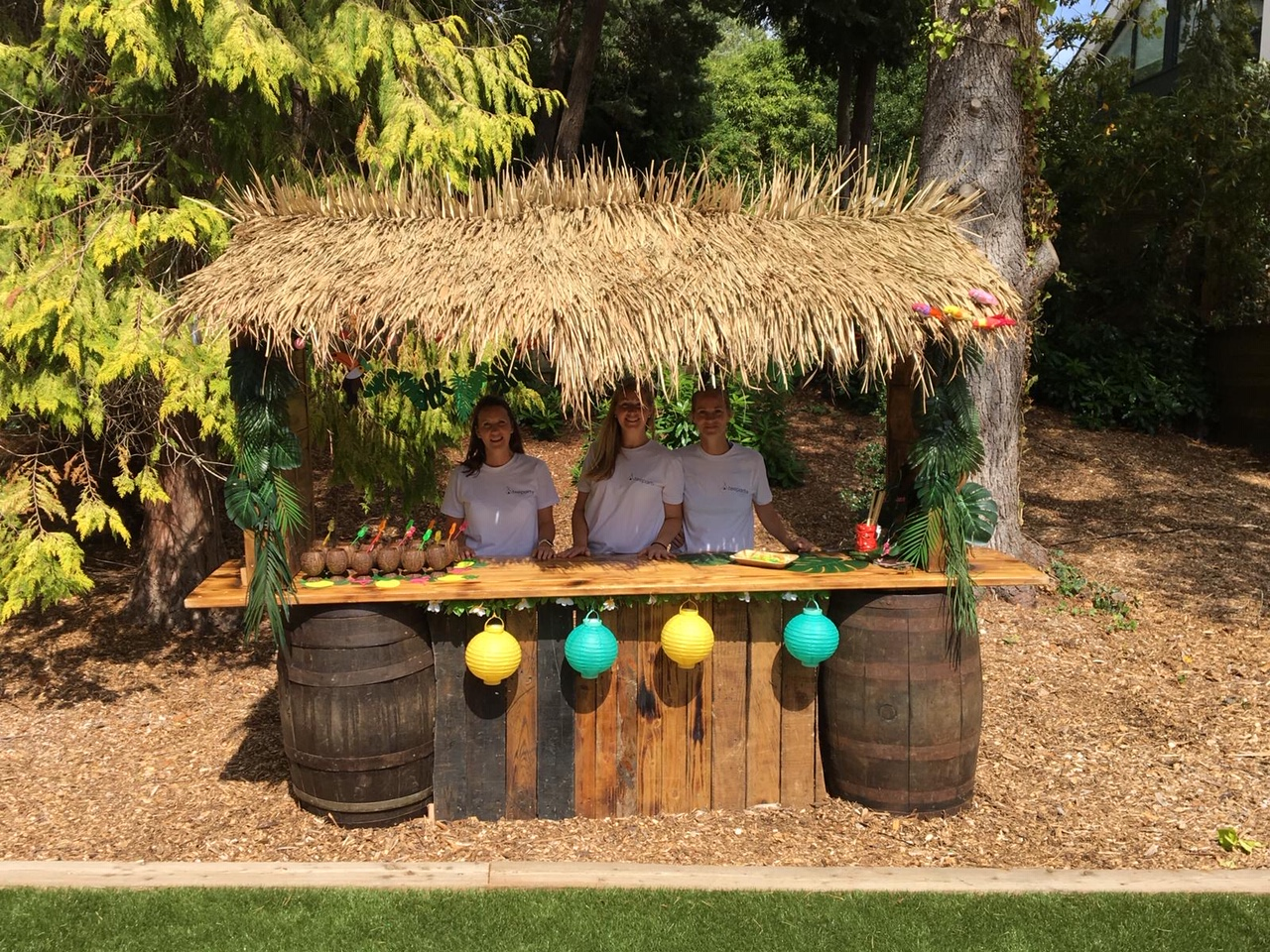 Tiki bar for outdoor party