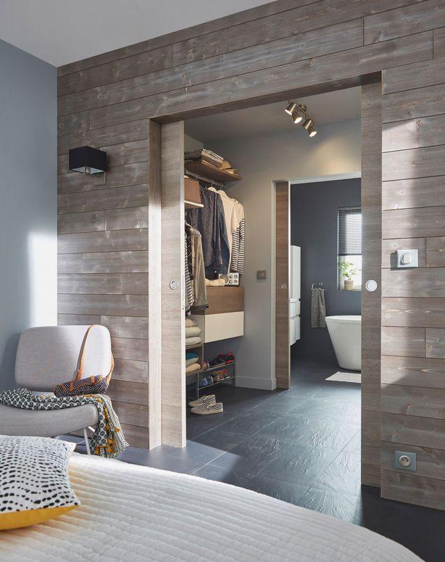Enchainement chambre / dressing / salle d'eau