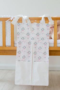 pink princess design nappy stacker