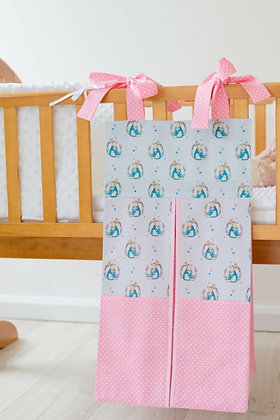 Pink & Blue Peter Rabbit Nappy Stacker