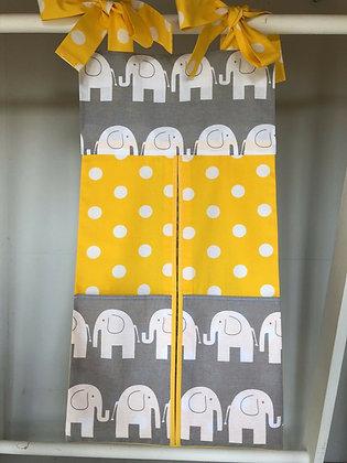 Elephant Yellow/Grey Nappy Stacker.