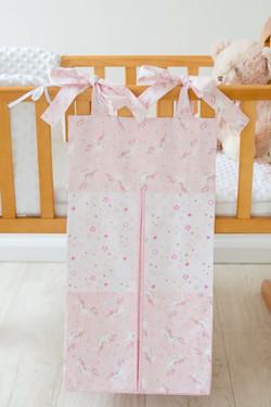 pink unicorn nappy stacker design