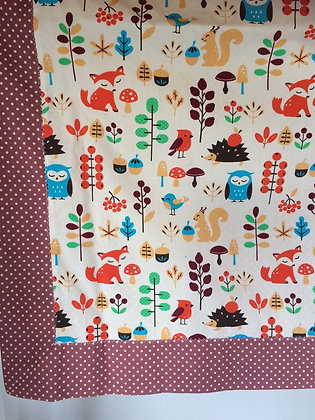Forest Animals Baby/Receiving Blanket.