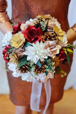 winter paper flower bouquet