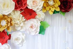 paper flower backdrop 2clvr designs