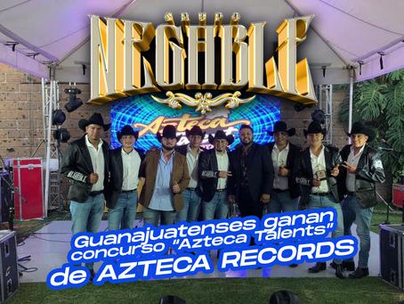 """Los guanajuatenses de Grupo Negable ganan concurso """"Azteca Talents"""" de Azteca Records."""
