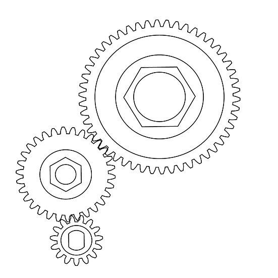 50T Main Differential Gear + 30T Idler Gear + 15T Input Gear